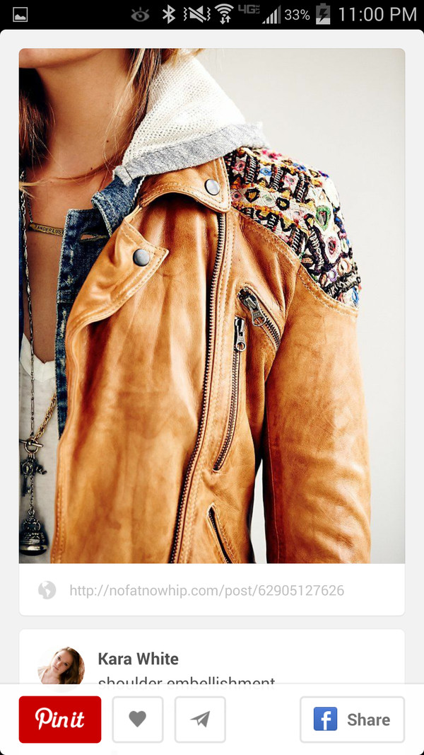 jacket leather jacket aztec