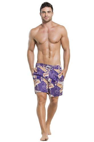 swimwear agua bendita mens print purple mens swimwear bikiniluxe