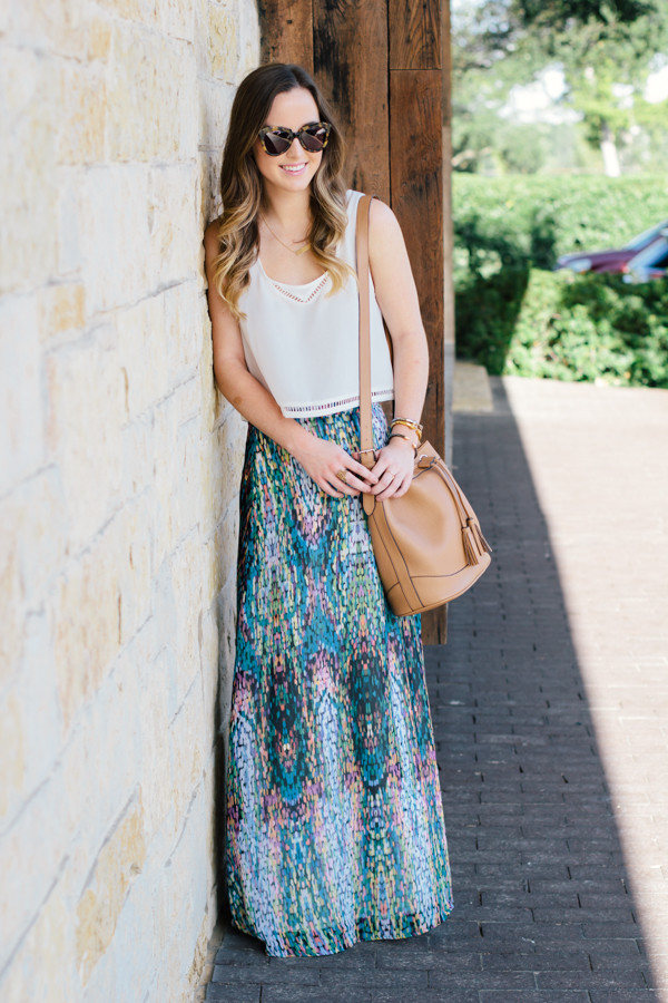 side smile style blogger skirt top jewels bag shoes sunglasses