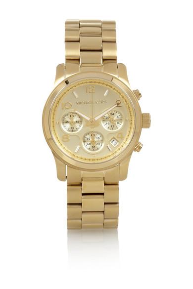 Michael Kors|Gold-plated steel chronograph watch|NET-A-PORTER.COM