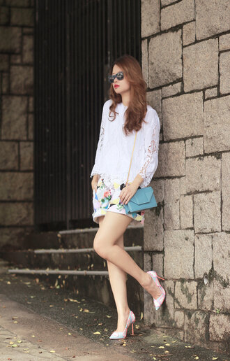 mellow mayo blogger sunglasses top bag shoes t-shirt skirt jewels