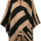 Burberry - striped open cardigan - women - merino - one size, nude/neutrals, merino