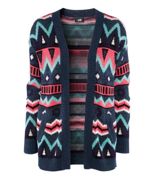 sweater knitwear ethnic ethinc print aztec aztec ethnic pattern aztec blue green pink purple black colorful geometric sold out fall outfits winter outfits 2012 2012-2013 pullover h&m cardigan knitted sweater jacket tribal cardigan navy blue pink aztec