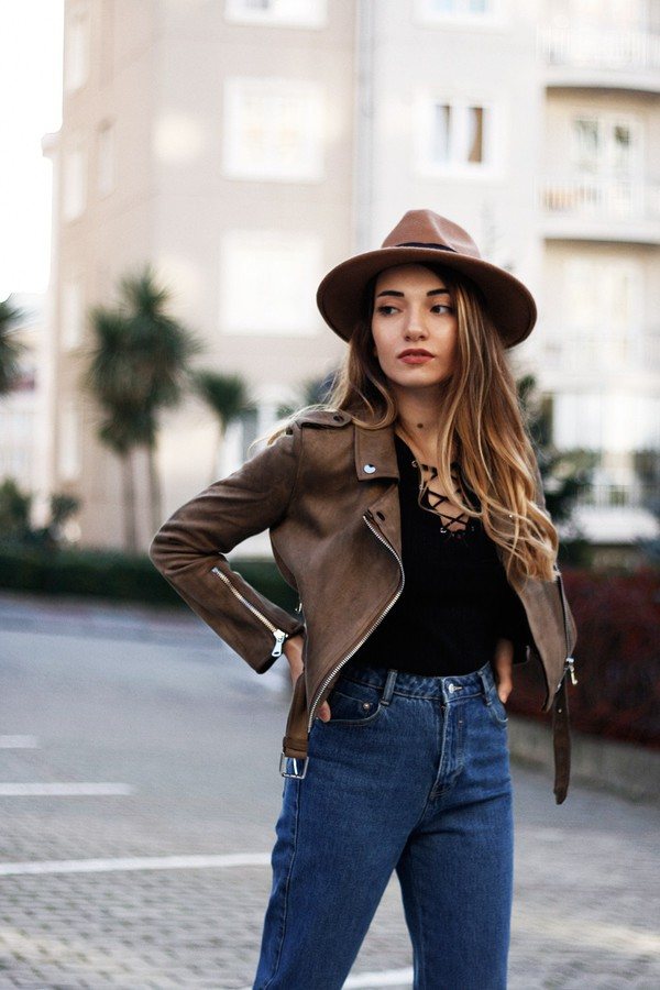 jacket zaful streetstyle casual lookbook instagram blogger fashion brown fall outfits suede black black friday cyber monday