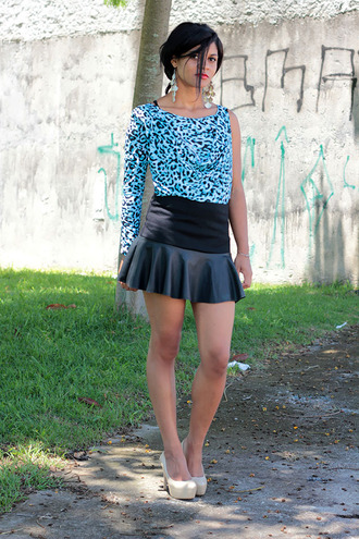 shirt dress skirt animal print estilopropriobysir estiloproprio salt and pepper vogue sexy lookbook looks by lau lookbookstore www.chictopia.com chic chicago bulls blouse