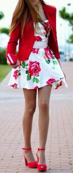 dress cute dress perfecto white red red dress cute perfection perfect combination