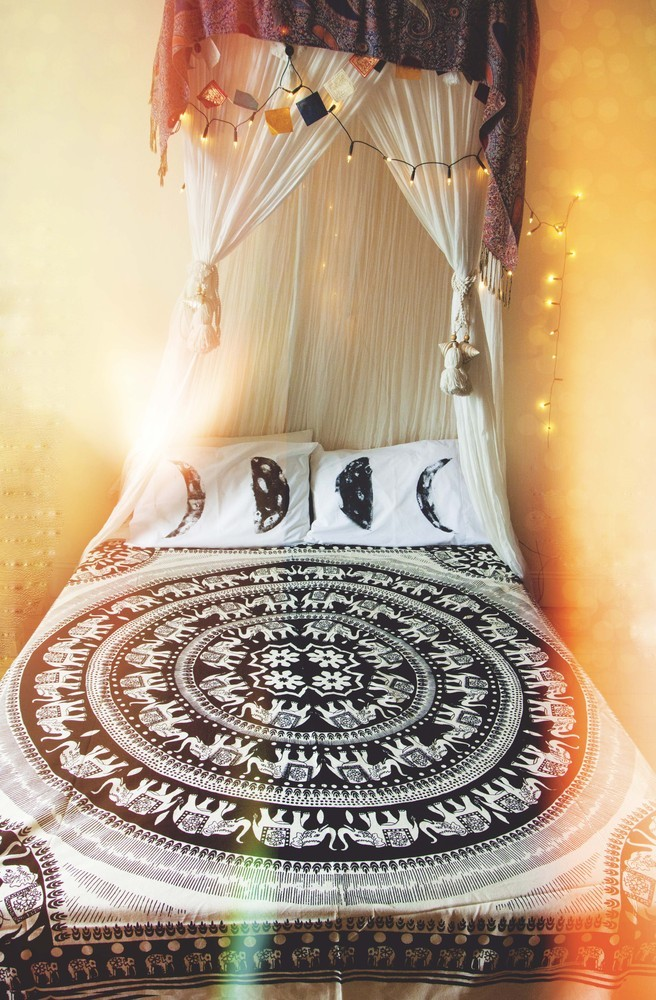 We Are All One Elephant Mandala Bed Throw & Wall Hanging.  / An Enchanted Life.
