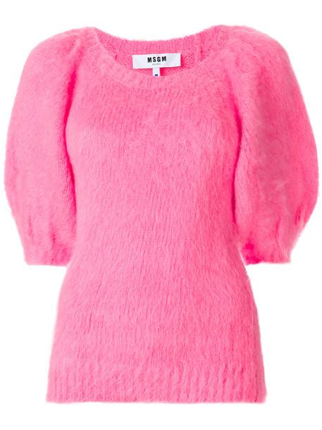 MSGM jumper women mohair purple pink sweater