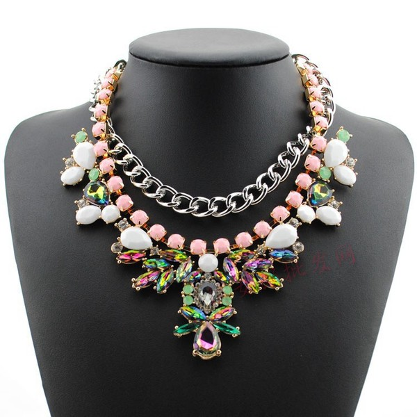 jewels necklace statement necklace multicolor aliexpress holographic