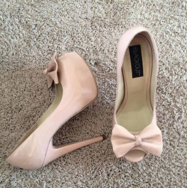 Heels Bows Shoes Cute High Heels Pink Girly Mean Girls Cute Gorgeous Wheretoget