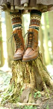 pants,leather,socks,jacquard,aztec,brown,green,orange,white,leggings,shoes,hippie,bohemian,vintage,kitchie