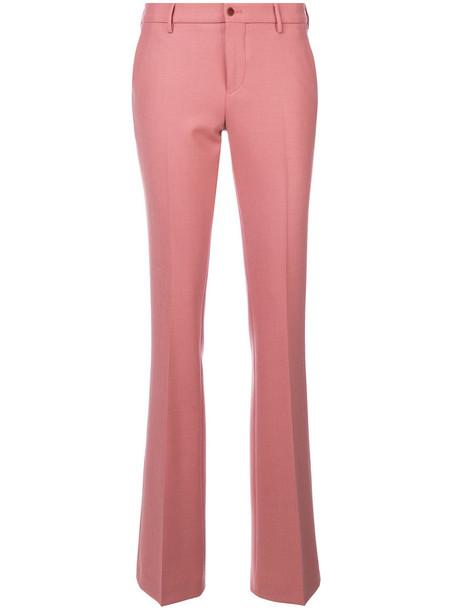 PT01 women classic spandex wool purple pink pants