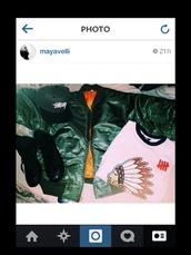 jacket,green,bomber jacket,rihanna