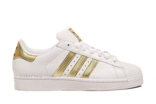 shoes superstar gold