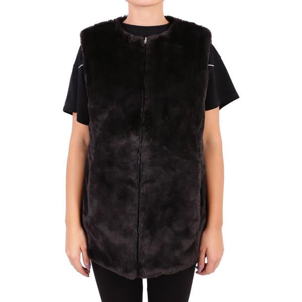 Save The Duck vest fur vest faux fur vest fur faux fur black jacket