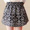High waist flared skirt - black