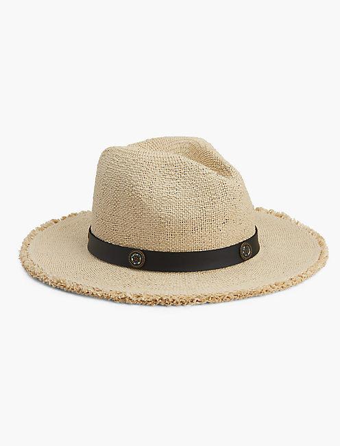 Beaded Trim Straw Hat | Lucky Brand