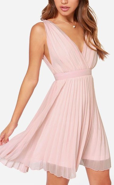dress pink dress short dress light pink dress dress women's dress