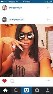 sunglasses,black mirrored sunglasses,taraji p. henson