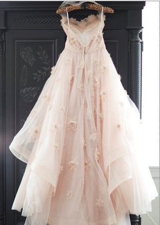 dress vintage tulle dress prom dress beige dress
