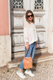 the working girl,blogger,top,jeans,bag,shoes,sunglasses,jewels,bucket bag