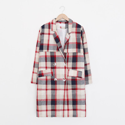 Holypink x newnew checked trench coat
