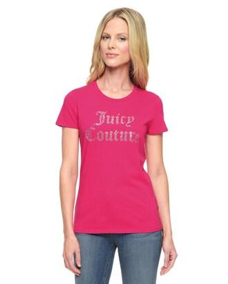 t-shirt slogan t-shirts juicy couture pink t-shirt