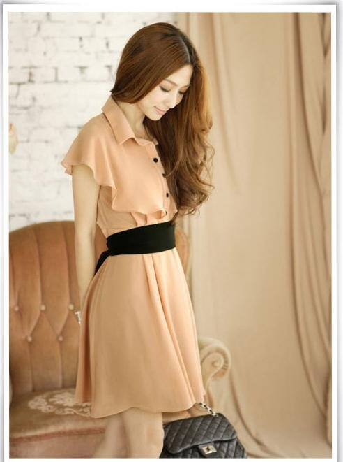 Free chiffon empire princess alibaba express hot sale elegant dresses for women autumn bow peplum vintage dress 2013 FD10028-in Dresses from Apparel & Accessories on Aliexpress.com