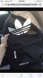bag,adidas,backpack,tumblr,black backpack