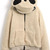 ROMWE | Panda Shaped Hooded Zippered Elastic Light-Khaki Coat, The Latest Street Fashion