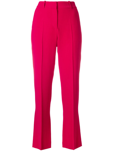Givenchy cropped women spandex silk purple pink pants