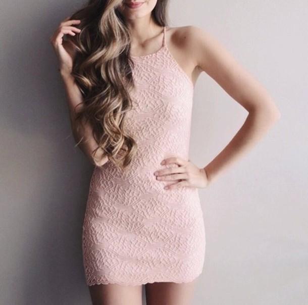 dress pink pink dress cute pretty