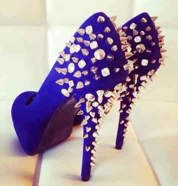 shoes dark royal blue