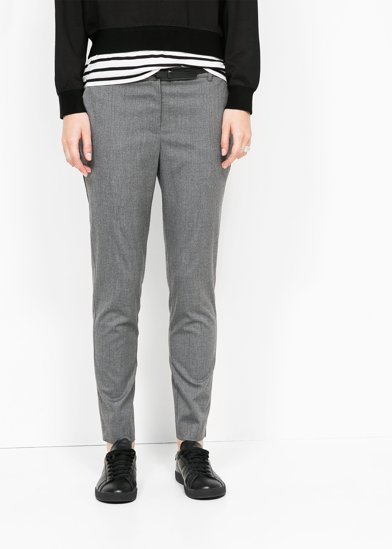 Belt straight-fit trousers - Women | MANGO