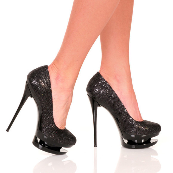 shoes high heels black  high heels the highest heel platform pumps