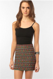 skirt,mini,tribal pattern,cute,colorful,clothes