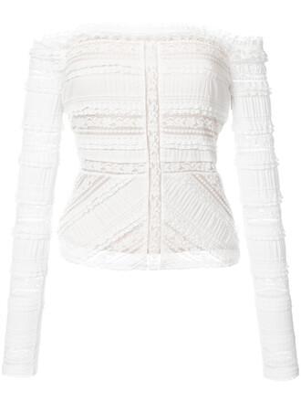 top women spandex lace white cotton silk