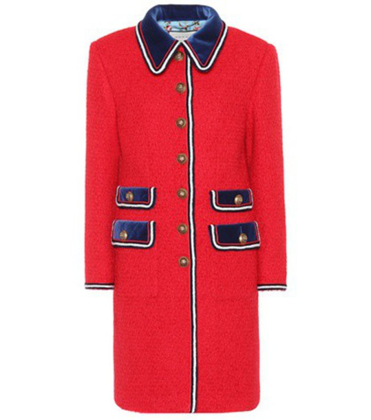 gucci coat red