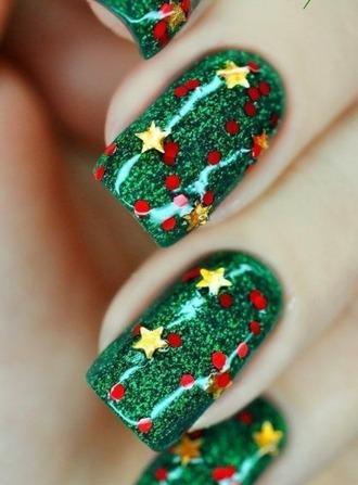 nail accessories nail polish stars polka dots holiday season christmas