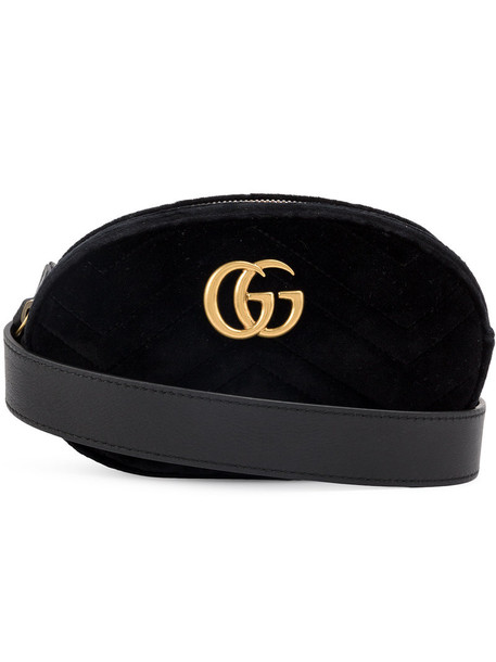 gucci belt bag women bag leather black velvet
