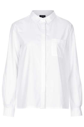Long Sleeve Cotton Shirt - Shirts - Tops - Clothing- Topshop