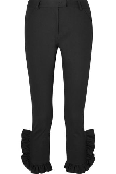 pants cropped cotton black