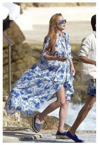 shoes espadrilles lindsay lohan sunglasses dress maxi dress