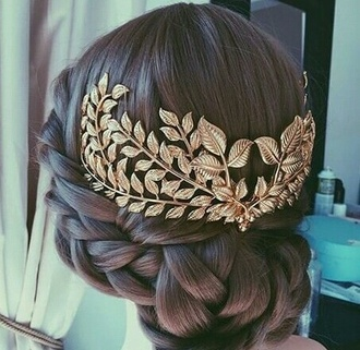 hair accessory gold metal gold hair adornments wedding hairstyles