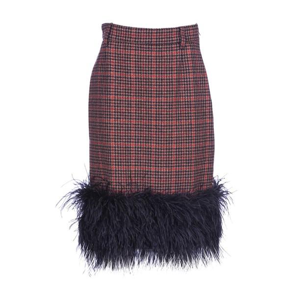 Prada skirt camel red