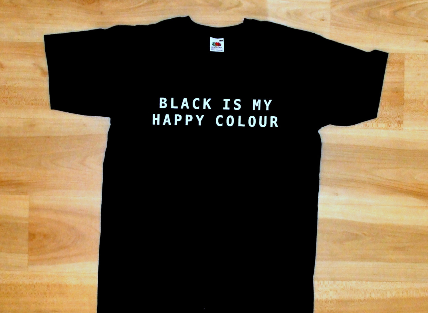 T shirt black is my happy color - Black Is My Happy Colour Shirt Tumblr Black T Shirt Is Happy Colour Black Color Shirt
