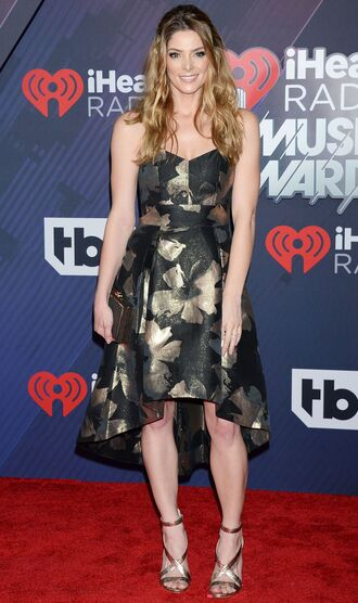 shoes sandals gown prom dress red carpet dress ashley greene high low dress iheartradio