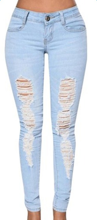 jeans women jeans slim ripped jeans blue jeans destroyed skinny jeans distressed pants