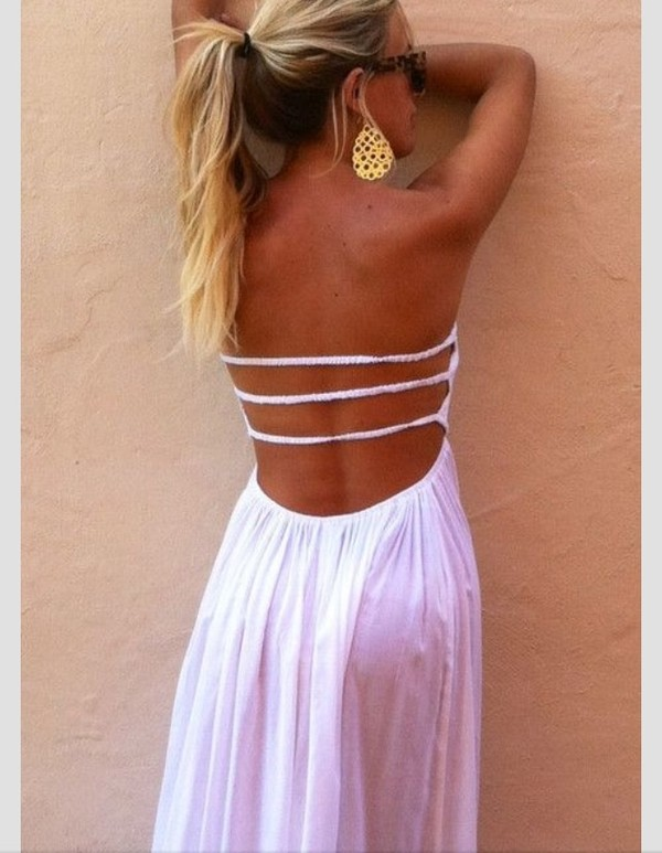 d0c815845a6c dress summer dress white white dress maxi dress pink open back white maxi  dress backless strappy.