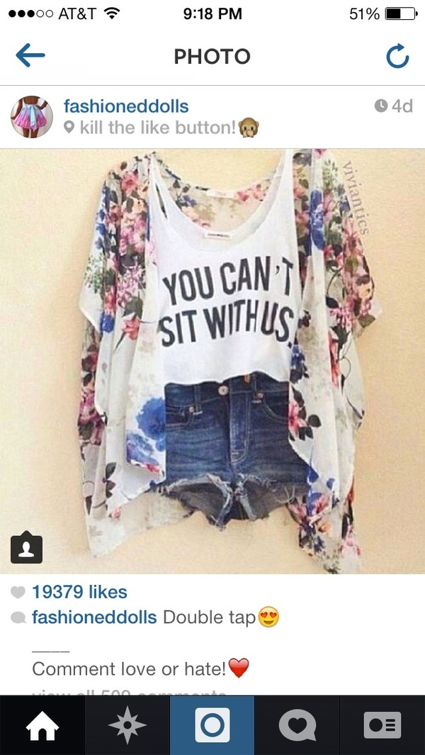 shorts denim shorts tank top floral to blouse cardigan idk t-shirt colorful cute iwant it so bad :d iwanthissobad help help help help a brudda out